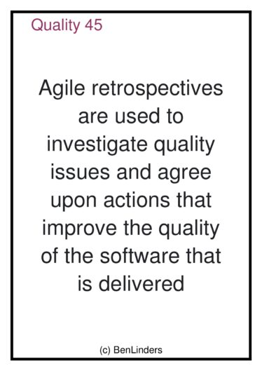 Agile Quality Coaching Cards