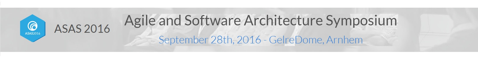 Agile and Software Architecture Symposium 2016
