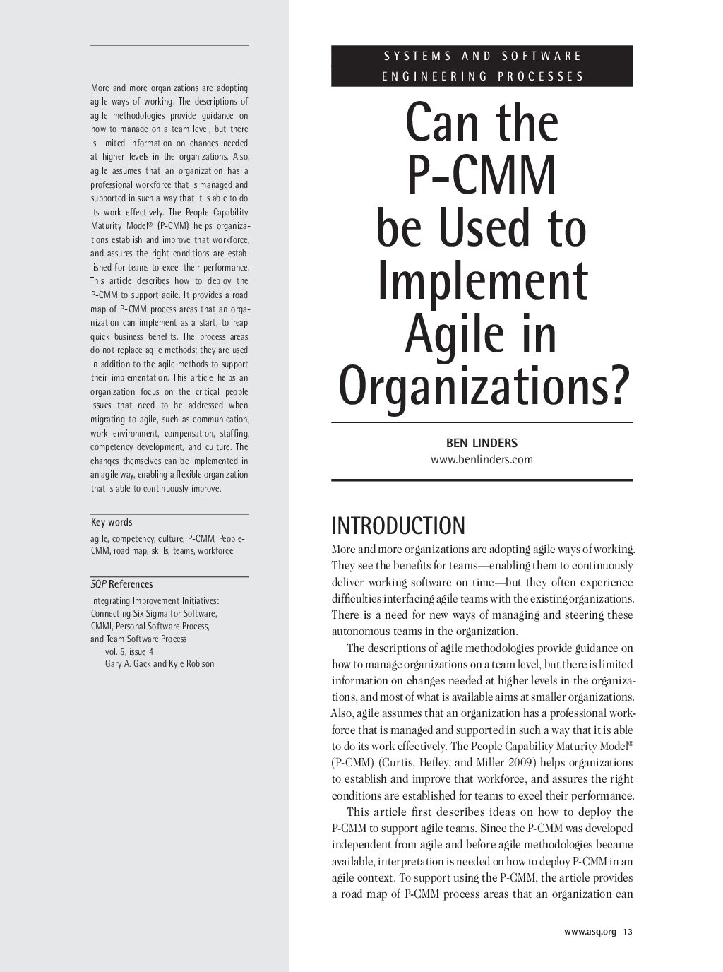 Ben Linders SQP can-the-p-cmm-be-used-to-implement-agile-in
