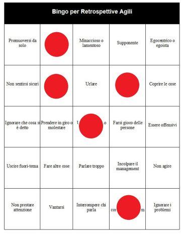 Bingo per Retrospettive Agili