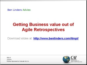 ITMPI – Getting Business Value out of Agile Retrospectives