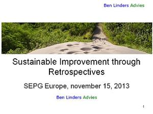 Sustainable Improvement through Agile Retrospectives