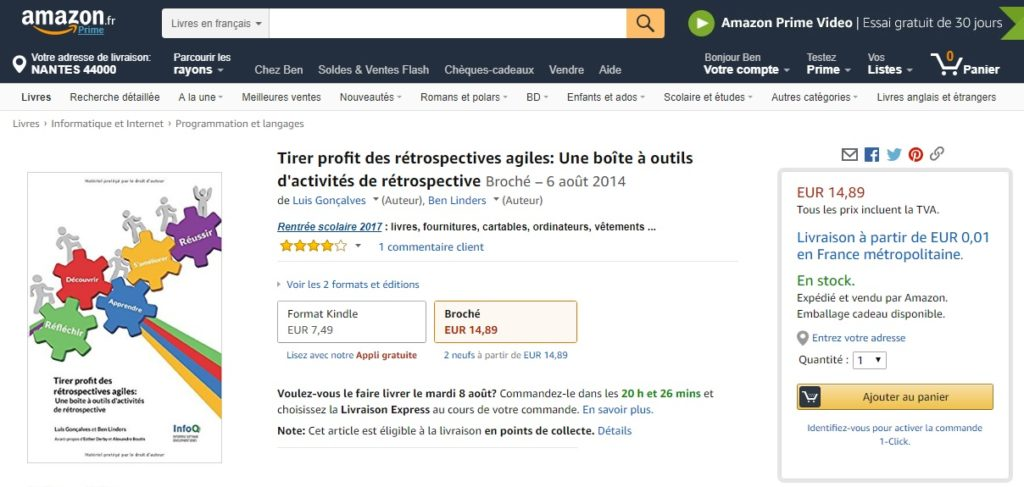 Getting my book in France - a journey into delivery of self