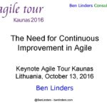 Keynote at Agile Tour Kaunas about Continuous Improvement with Agile