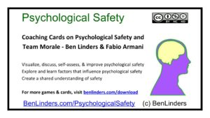 Cards on Psychological Safety and Team Morale released