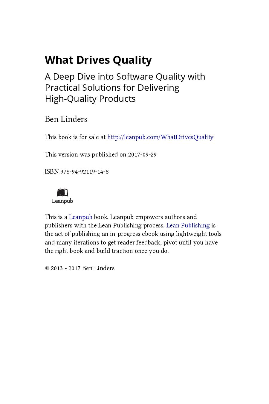 What Drives Quality (eBook)