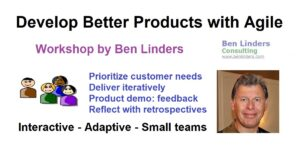 Workshop Develop Better Products with Agile – Live Online