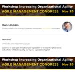 Workshop Improving Organizational Agility at Agile Management Congress 2019