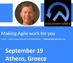 Workshop Making Agile Work for You in Athens