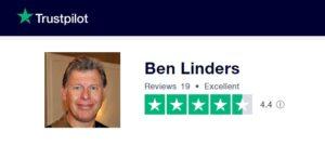 Ben Linders has an excellent review score on Trustpilot