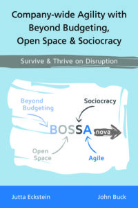 Book Cover: Book: Company-wide Agility with Beyond Budgeting, Open Space & Sociocracy