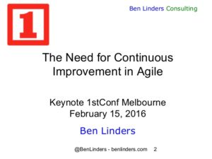 Continuous Improvement Matters in Agile