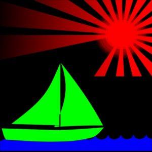 Sail boat futurespective
