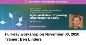 Agile Workshop: Improving Organizational Agility at DevOpsCon Munich 2020
